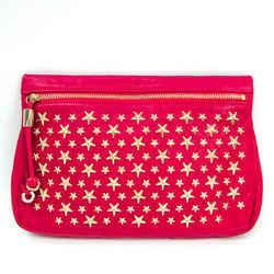 Jimmy Choo ZENA Women's Leather Studded Clutch Bag Pink BF519994