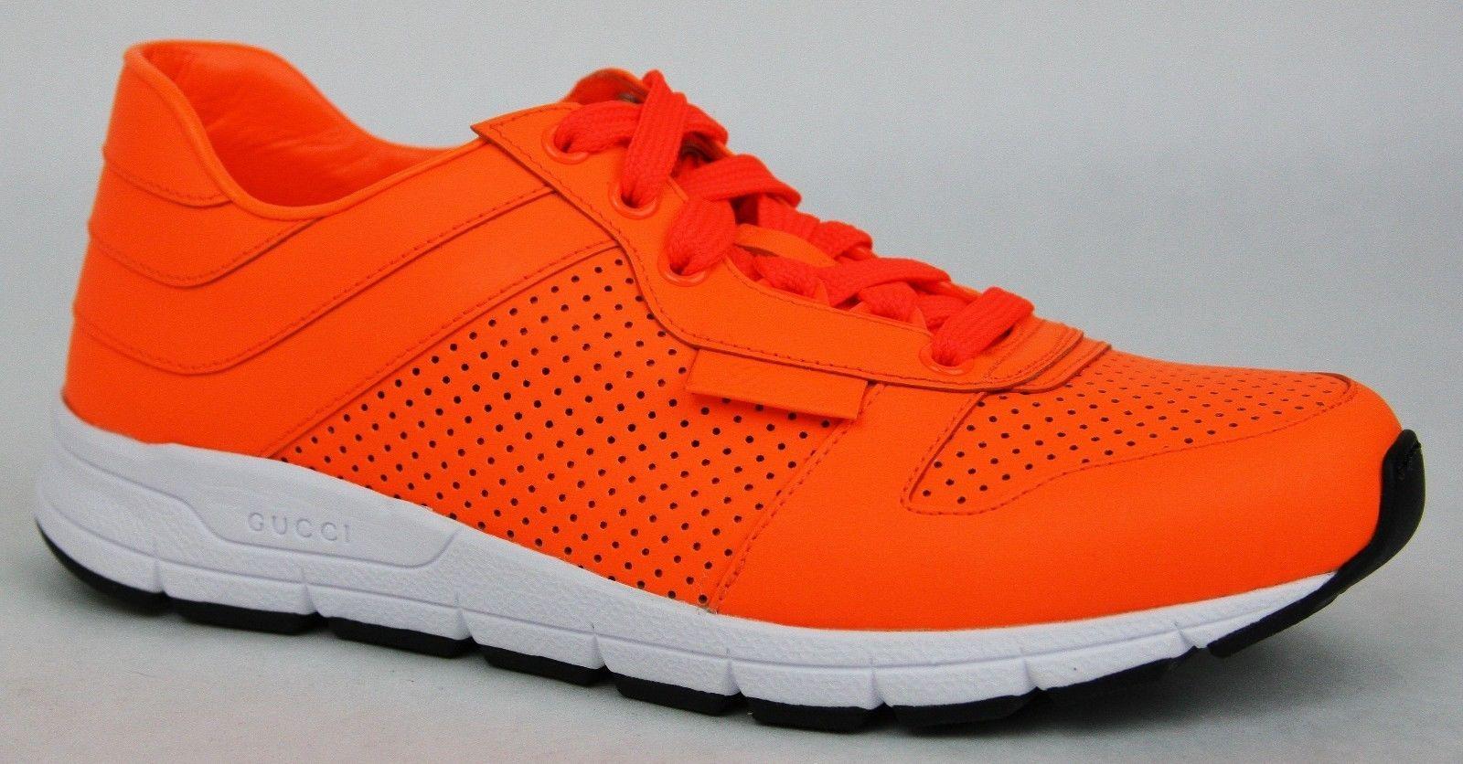 New Gucci Women's Neon Orange Leather