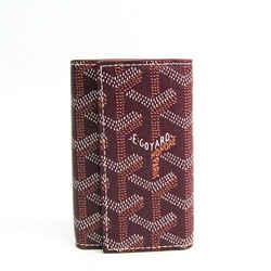 Goyard Unisex Canvas Leather Key Case Bordeaux BF505090