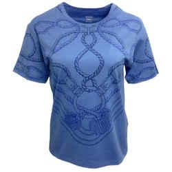 Hermes Blue Cordelieres Blouse