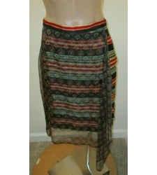 "Dries Van Noten Multi-color Silk Digitally Printed ""serina"" Skirt - Size 38- Nwt"