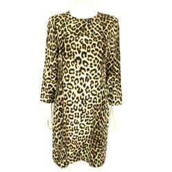 $595 Rag & Bone Leopard Print Silk Short 3/4 Sleeve Dress Animal Print Sz 10