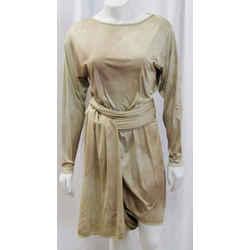 Michael Kors Multi Way Silk Dress Taupe Multi Tone Ombre Long Sleeve 2 Small