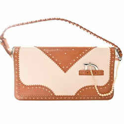 Auth Christian Dior ????? 05-ma-0074 Women's Leather,artificial Pearl