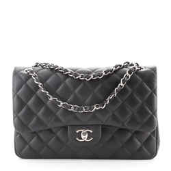 Classic Double Flap Bag Quilted Caviar Jumbo