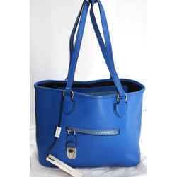 Marc Jacobs Manhattan Large Shopping Tote Bag $1095 Front Zip Lock Silver Nib