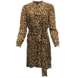 Gucci Leopard Print Silk Short Casual Dress