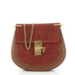Drew Crossbody Bag Studded Leather and Suede Small