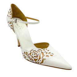 Valentino Ivory Rose Cut Out Pumps