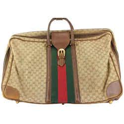 Gucci  XL Monogram GG Web Suitcase Luggage Bag 127ggs23