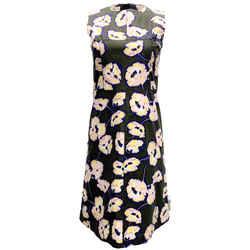 Marni Dark Green Multi Floral Print Casual Dress