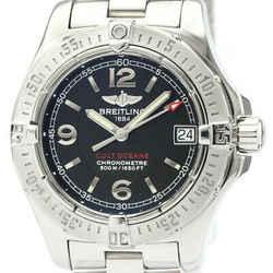 Polished BREITLING Colt Oceane Steel Quartz Ladies Watch A77380 BF518922