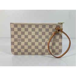 Louis Vuitton Damier Azur Neverfull GM Pouch Only Wristlet Clutch Handbag