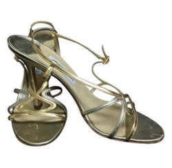 Jimmy Choo Silver And Gold Slingback Sandals Size: EU 41.5 (Approx. US 11.5) Regular (M, B) Item #: 22086284