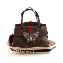 Gucci Linea Totem Butterfly Clasp Satchel