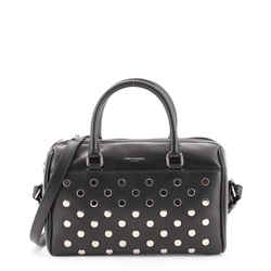 Classic Baby Duffle Bag Studded Leather