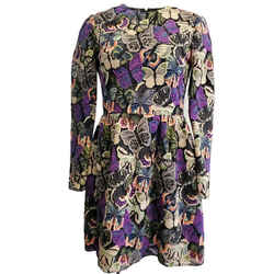 Valentino Purple / Multi Butterfly Casual Dress