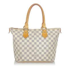 Vintage Authentic Louis Vuitton White Damier Azur Saleya PM France