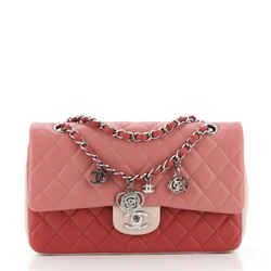 Tricolor Valentine Crystal Hearts Flap Bag Quilted Lambskin Mini