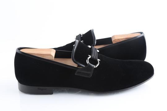 black velvet loafer shoes
