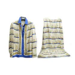 Authentic Hermes Exclusive 100% Silk Dress & Shirt Set Veloppe & Leduc Boat Design Soft Clothing