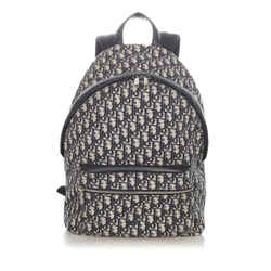 Blue Dior Dior Oblique Canvas Backpack Bag