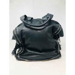 Alexander Wang Black Leather Zippers Shoulder Bag Purse 2400-643-12119