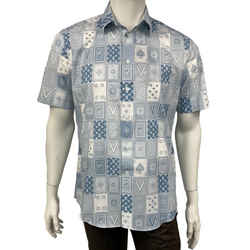 Regular Fit Short Sleeve Card Shirt