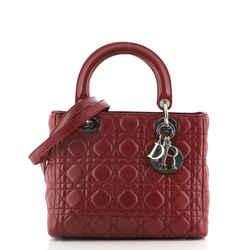 Lady Dior Bag Cannage Quilt Lambskin Medium