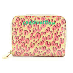 Louis Vuitton Limited Corail Monogram Vernis Leopard Zippy Coin Purse 2241lvs212