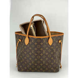 Louis Vuitton Neverfull MM Brown Monogram Canvas Leather Tote W/Insert A634