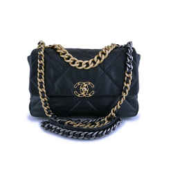 Chanel 19 Large Quilted Goatskin Flap Bag