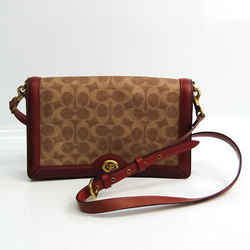 Coach Signature Riley 31070 Women's Coated Canvas,Leather Shoulder Bag  BF533177