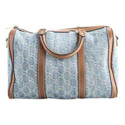 Gucci Vintage Web GG Denim Boston Shoulder Bag