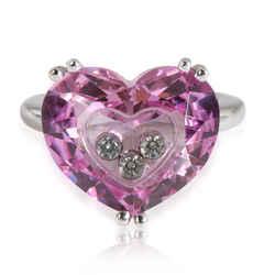 Chopard So Happy Heart Diamond Ring in 18K White Gold 0.17 CTW