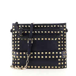 Rockstud Triple Zip Crossbody Leather