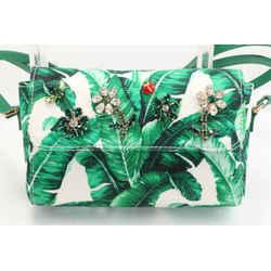 Dolce&Gabbana Banana Leaf Print Shoulder Bag