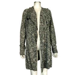 $345 Nwt Theory Gray Open Cardigan Trincy C Ivory Space Sz Large