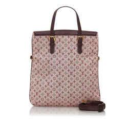 Pink Louis Vuitton Monogram Mini Lin Francoise Bag