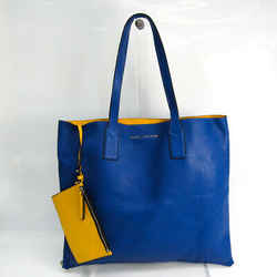 Marc Jacobs Wingman WINGMAN M0008126 Women's Leather Tote Bag Blue,Yell BF519886