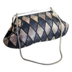 "Dolce&Gabbana Harlequin Snakeskin Clutch 12""L x 6""H x 2""W"