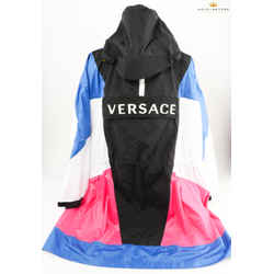 Versace Woman Logo Multicolored Raincoat
