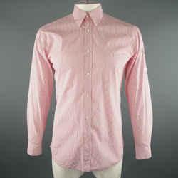 Alexander Mcqueen Size M Red Tattersall Cotton Long Sleeve Shirt