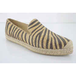 Stuart Weitzman Catalan Striped Espadrille Flat Loafers Size 9.5 New $265 Sz Toe