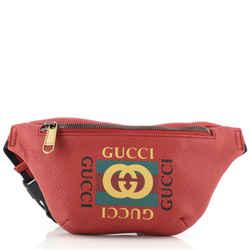 Logo Belt Bag Printed Leather Small
