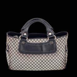 Celine Monogram Canvas & Black Leather Boogie Handbag