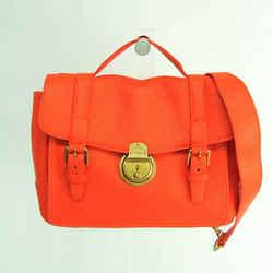 Ralph Lauren POLO Women's Leather Handbag,Shoulder Bag Orange BF529905