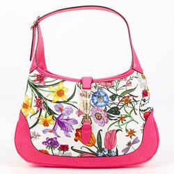 Gucci Jackie Medium Multicolor Flora Canvas Leather Bag