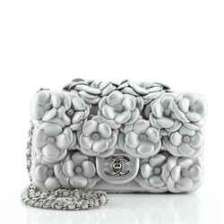 CC Camellia Flap Bag Embellished Lambskin Mini