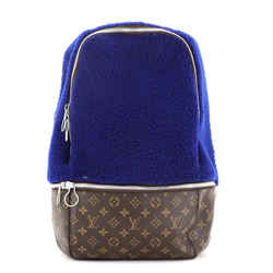 Marc Newson Backpack Shearling and Monogram Canvas